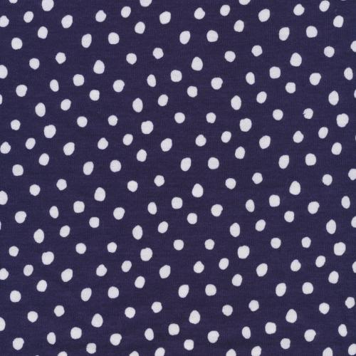 Spots Navy Knit With White Dots