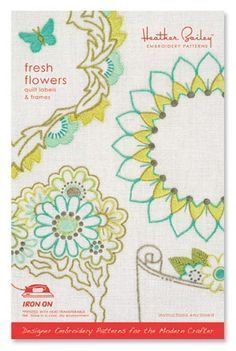Heather Bailey Fresh Flowers Embroidery Pattern