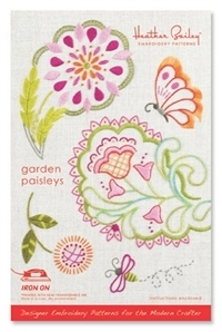 Heather Bailey Garden Paisleys Embroidery Pattern